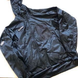 Columbia black packable windbreaker hood